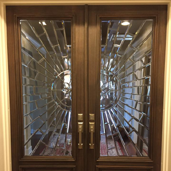 Custom Beveled Penthouse Door